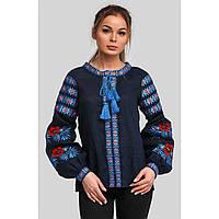 Женская вышиванка блуза Navy blue