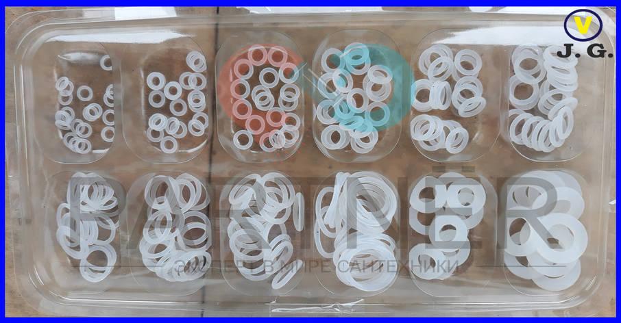 Набор прокладок(кольцо) силиконовых термостойких, фото 2