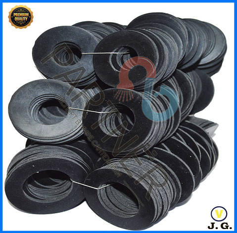 Прокладка резиновая 1/2(листовая) внутренний диаметр 42*19*2(100шт), фото 2
