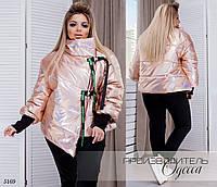 Куртка женская ворот на застежках плащевка 48-50,52-54, фото 1