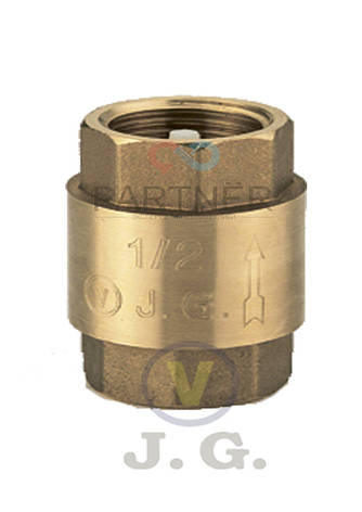 Зворотний клапан 1/2 J. G.(АВ) пластиковий шток, фото 2