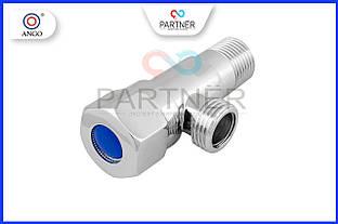 Кран угловой вентильный 1/2н-1/2н хромированный, XY-8002