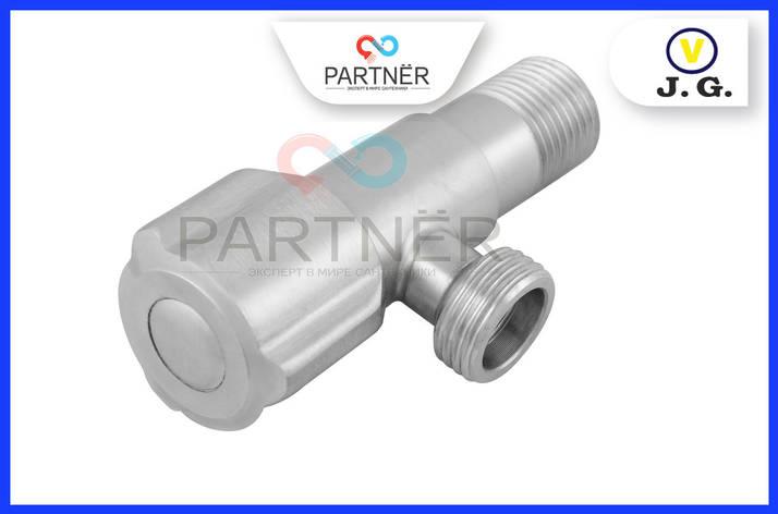 Кран кутовий вентильний 1/2н-1/2н нержавіюча сталь, (01), фото 2