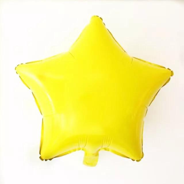 Фольгована Зірка жовта пастель 45 см