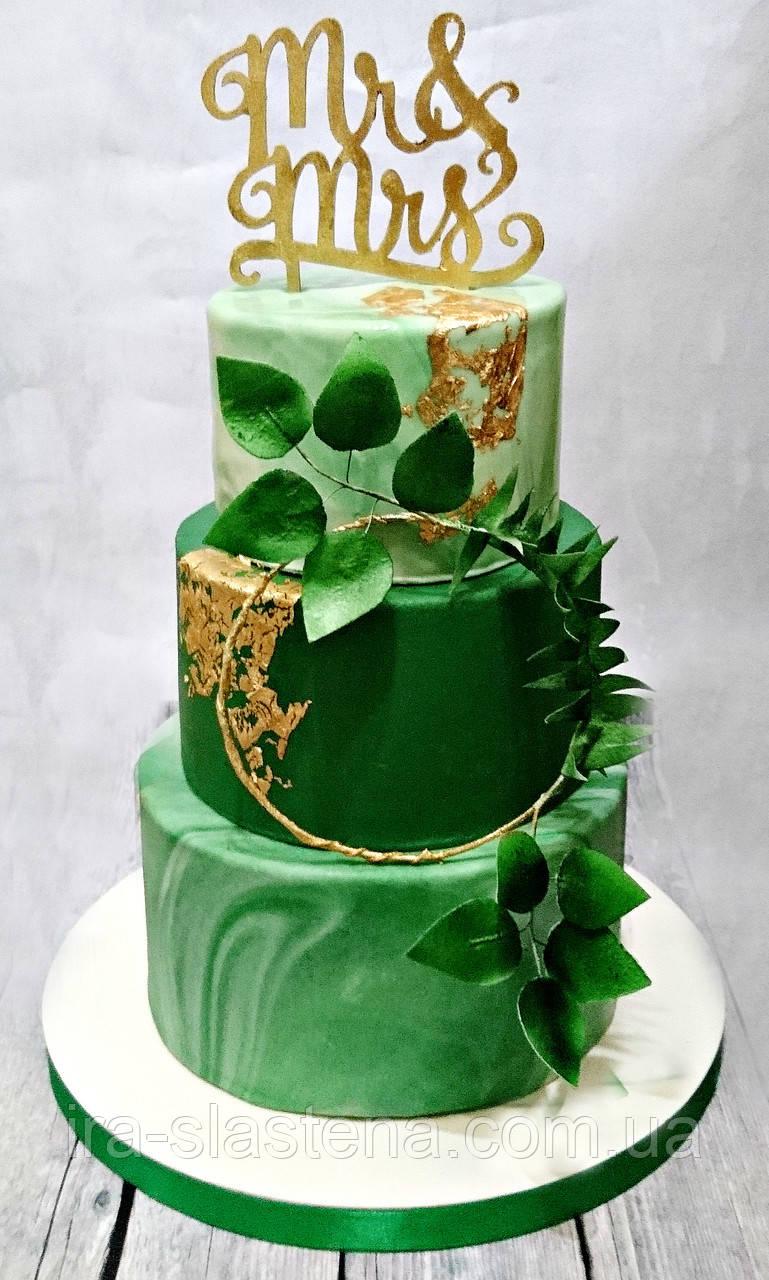 Торты в разрезе с цветами