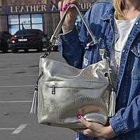 """Женская кожаная сумка с лазерным напылением  """"Электра Gold"""", фото 1"""