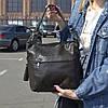 """Женская кожаная сумка с лазерным напылением  """"Электра Dark Brown"""""""