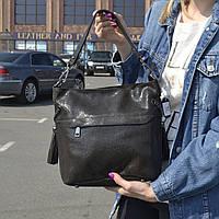 """Женская кожаная сумка с лазерным напылением  """"Электра Dark Brown"""", фото 1"""
