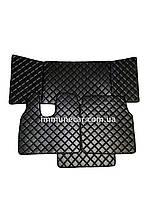 Автомобильные ковры из эко-кожи MAN TGА чёрные в узкую кабину