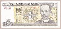 Банкнота Кубы 1 песо  2003 г. UNC