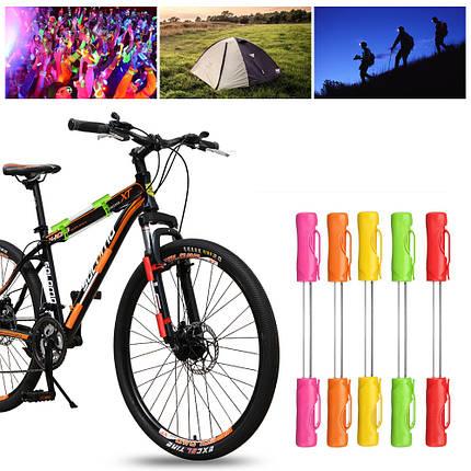 BIKIGHTВелосипедВелосипедВелоспортмотоциклСвет LED Предупредительный световой сигнал безопасности 3 Батарея Кемпинг Ночь Лампа - 1TopShop, фото 2