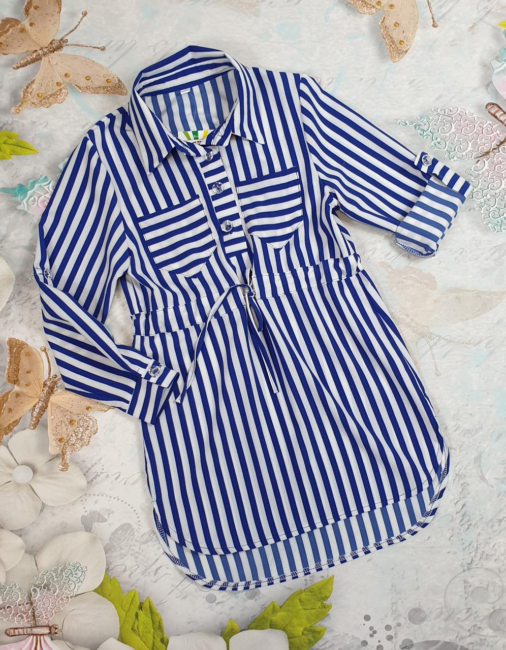 Платье-рубашка Трансформер для девочек р. 116-134