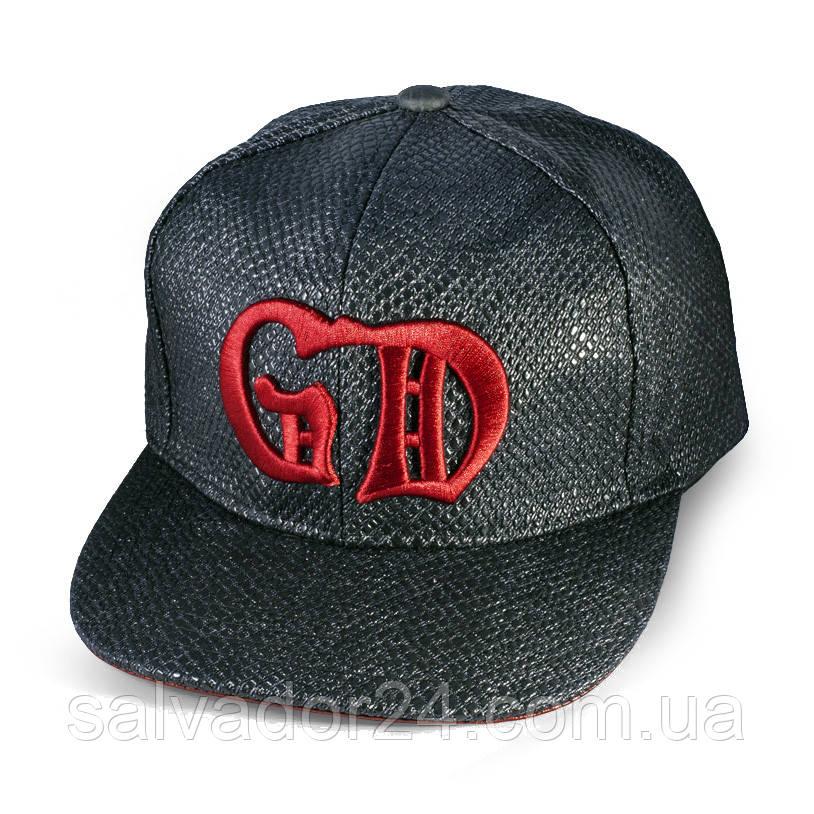 Бейсболка GD с прямым козырьком, черная  кепка блайзер