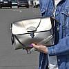 "Женская кожаная сумка серебристая ""Мелитта 2 Silver"""