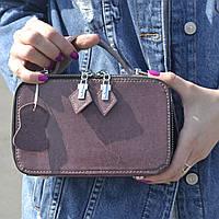 """Женская кожаная сумка """"Фемида Dark Pink"""", фото 1"""