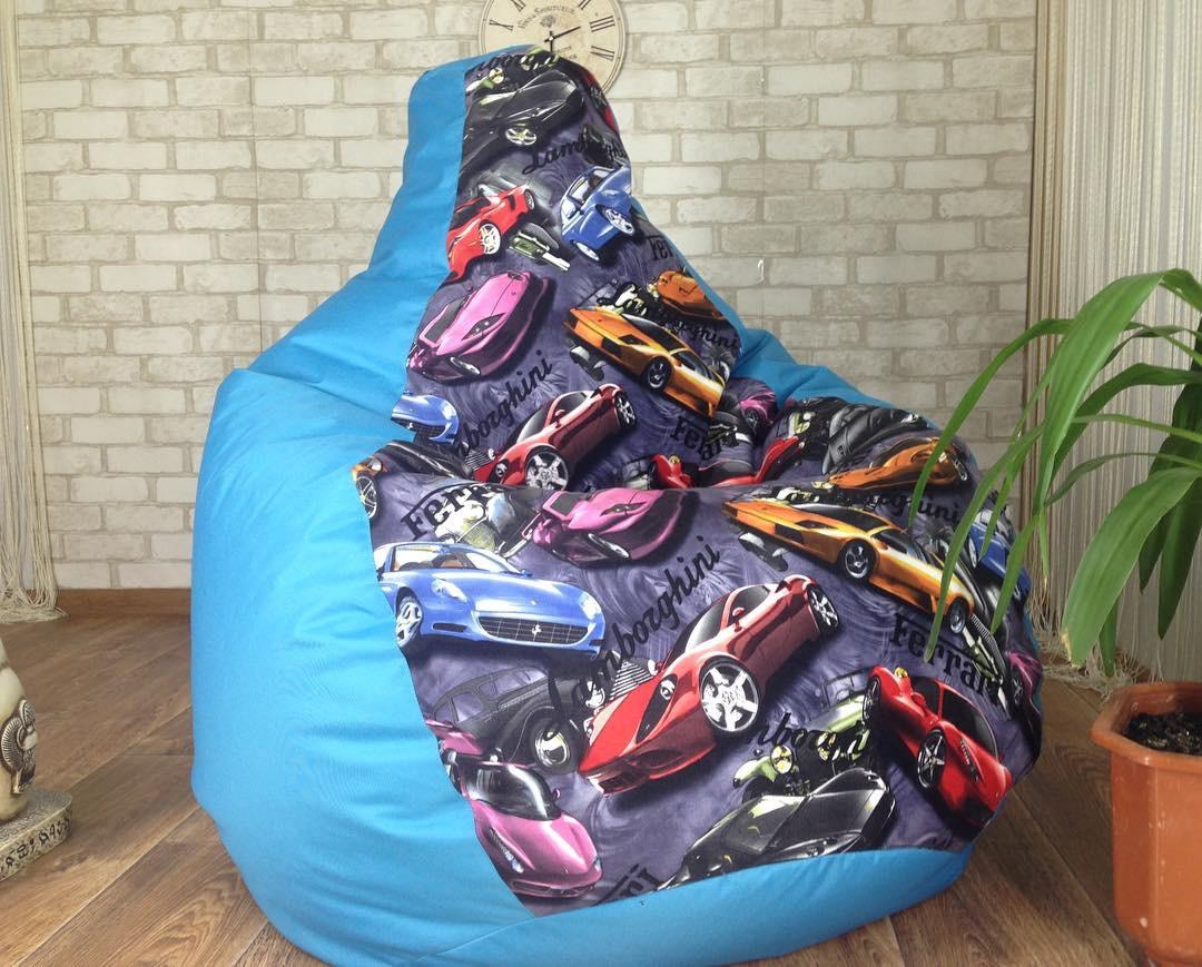 Классный дизайн !Кресло мешок бескаркасное кресло Груша мягкий пуф кресло мяч мягкая мебель оксфорд +ПРИНТ L