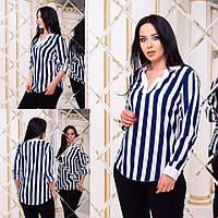 Блузка в полоску / супер софт / Украина 15-656-1, фото 1