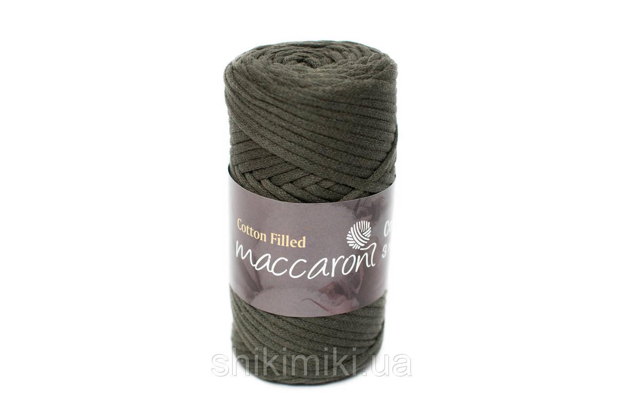 Трикотажный хлопковый шнур Cotton Filled 3 мм, цвет Темно зеленый