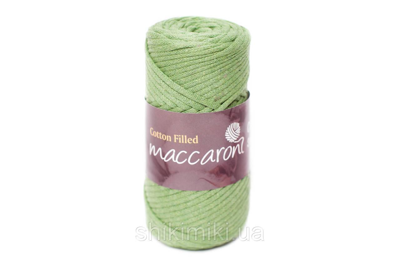 Трикотажный хлопковый шнур Cotton Filled 3 мм, цвет Зеленый