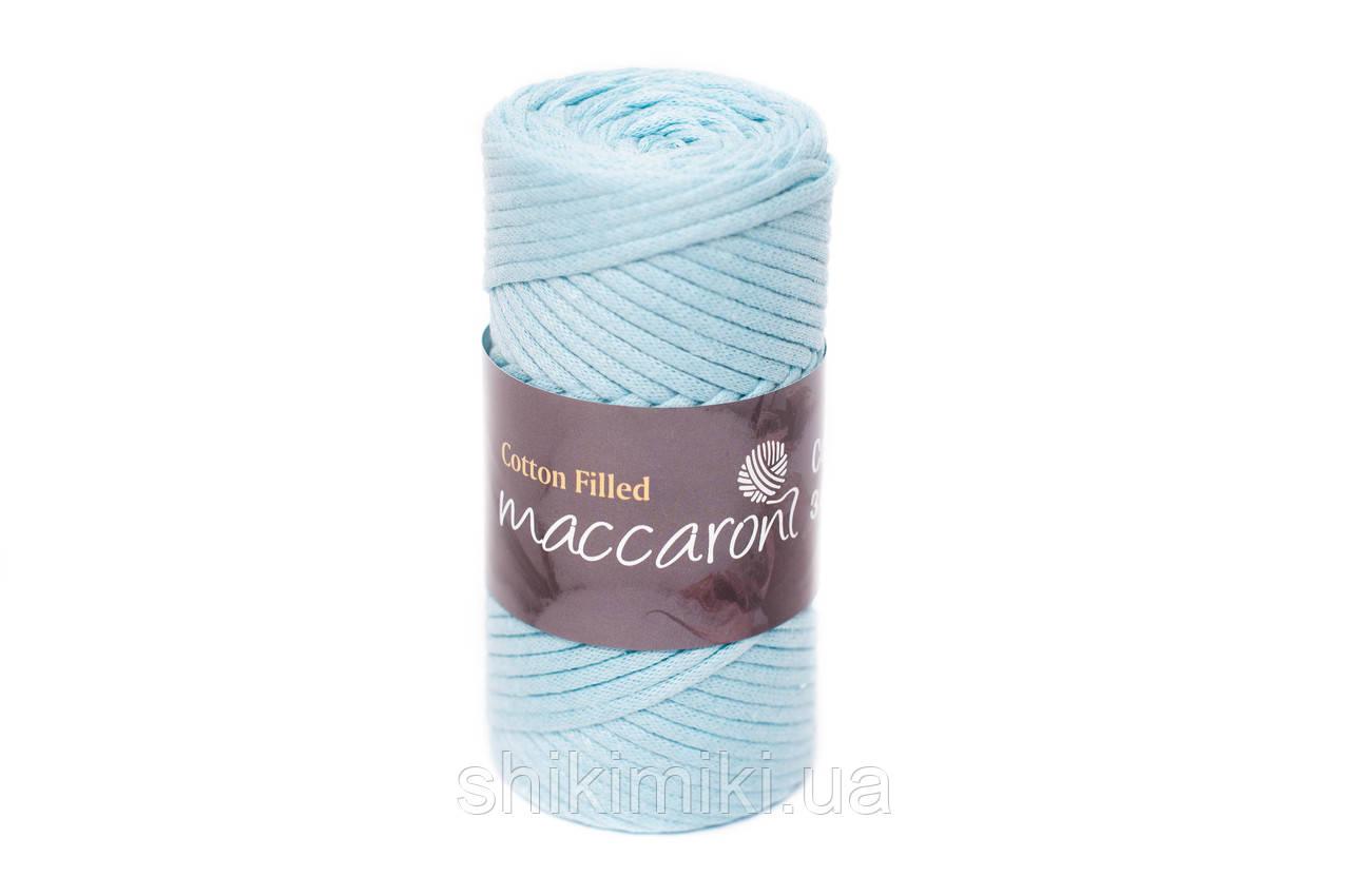 Трикотажный хлопковый шнур Cotton Filled 3 мм, цвет Небесно голубой
