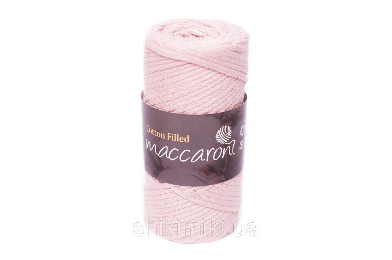Трикотажный хлопковый шнур Cotton Filled 3 мм, цвет Пудра