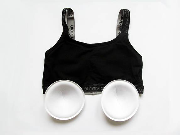Комплект женского белья Кельвин Кляйн Radiant (реплика) слипы+топ с чашечками серый, фото 2