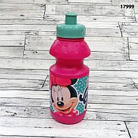 Пластиковая бутылочка Minnie Mouse для девочки, объём 350 мл