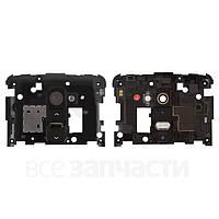 Средняя часть корпуса LG G2 черная (кнопка включения, стекло камеры в комплекте), Середня частина корпуса LG G2 чорна (кнопка включення, скло камери в