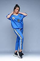 Женский костюм большого размера Likara / стрейч котон / Украина 32-825, фото 1