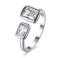 INALIS Платиновые позолоченные квадратные кольца со стразами - 1TopShop