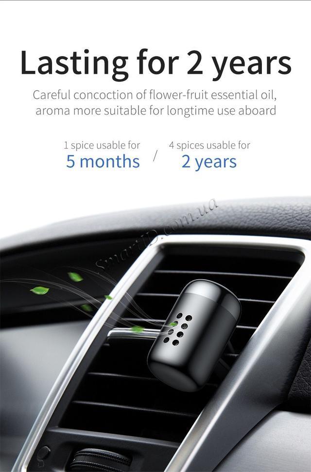 Автомобильный ароматизатор Baseus Little Fatty In-vehicle Fragrance Черный Синий Сребристый