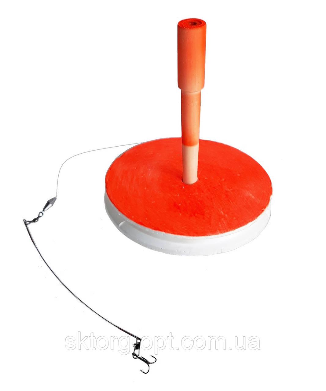 Кружок для щуки большой 150мм оснащенный