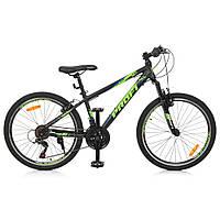 Детский спортивный велосипед 24 Д. G24PLAIN A24.3 черно-синий