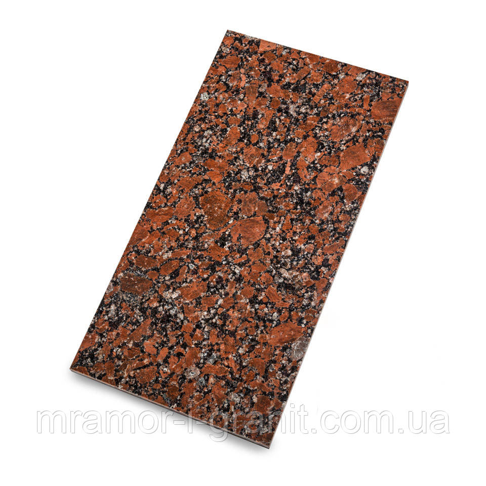 Плитка из Капустинского гранита 60х30 см