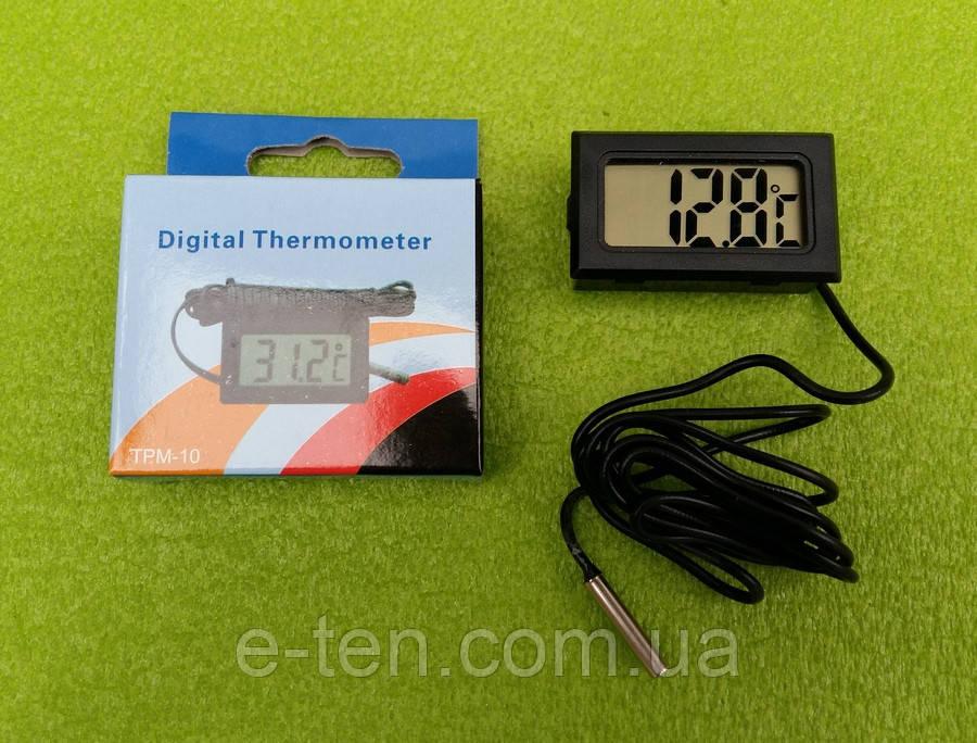 Термометр-термометр цифровий універсальний -50°C...+110°C (на батарейках) ЧОРНИЙ Китай