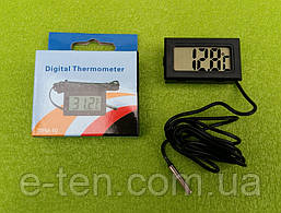Термометр-градусник цифровой универсальный -50°C...+110°C (на батарейках) ЧЕРНЫЙ   Китай