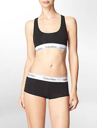 Комплект женского нижнего белья Calvih Kleih (реплика) топ и шортики чёрный размер М, фото 2