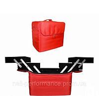 Бьюти-кейс Красный тканевый