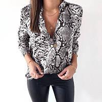 601df42c220 Женская шифоновая принтованная рубашка свободного кроя 6813232