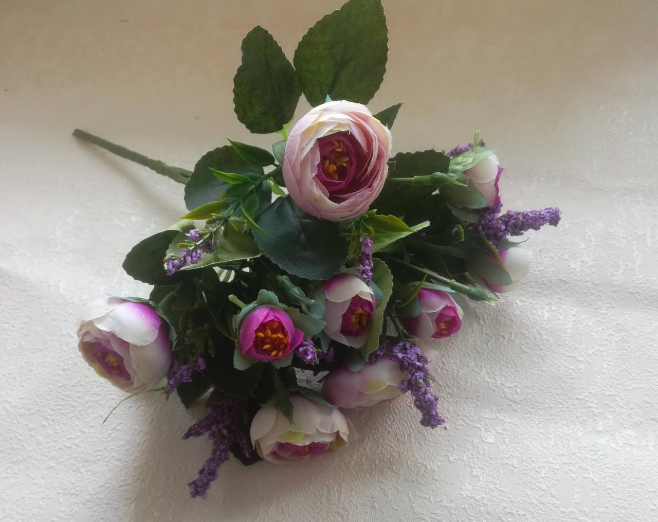 Букет ранункулюс, фиолетовый