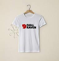 Мужская белая футболка, чоловіча футболка Fjall Raven Kanken, Реплика