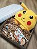 Подарочный набор кигуруми покемон пикачу+киндер сюрприз+киндер шоколад