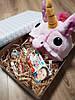 Подарочный набор кигуруми розовый единорог+киндер сюрприз+киндер шоколад