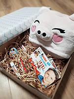Подарочный набор кигуруми поросенок + киндер шоколад + киндер-сюрприз, фото 1