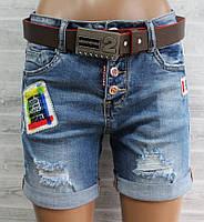 """Шорты женские джинсовые модные с аппликацией размеры 25-30 """"LIKE"""" купить недорого от прямого поставщика"""