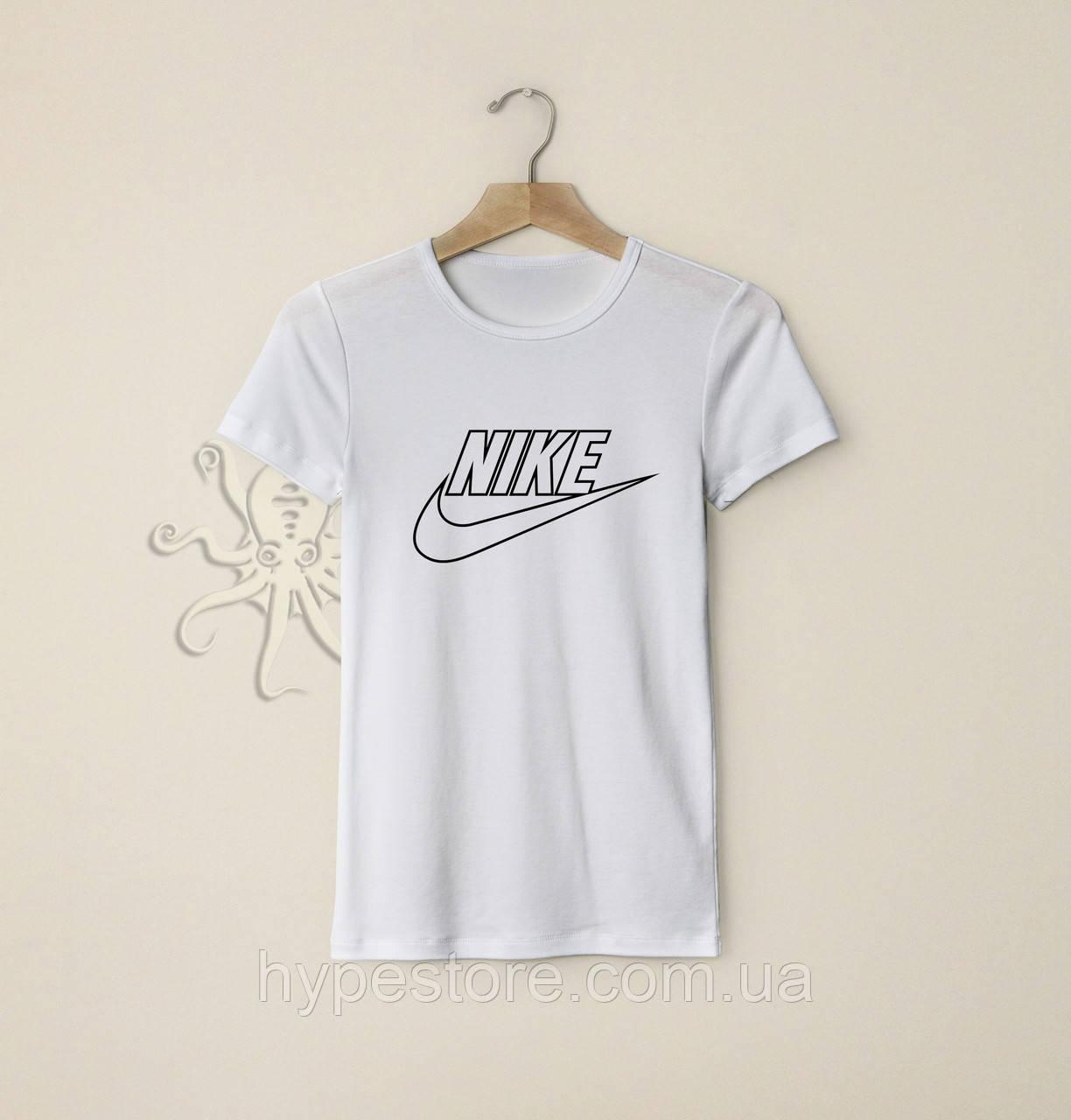 Мужская белая футболка, чоловіча футболка Nike Air, Реплика
