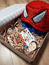 Подарочный набор для мальчиков кигуруми человек паук + киндер шоколад + киндер-сюрприз, фото 2