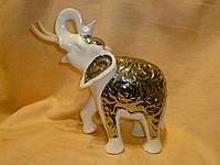 Керамический Слон - декоративная статуэтка 21х21х8 сантиметров