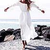 Літній довга сукня бавовняне з відкритими плечима 68ty2603, фото 2