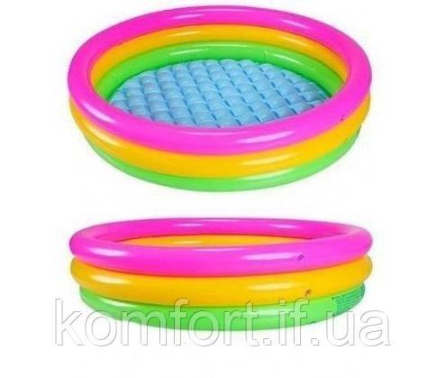 Детский бассейн надувной Intex 57422 радуга, фото 2
